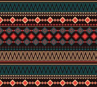 Aperçu de Aztec Tribal Pattern - Black