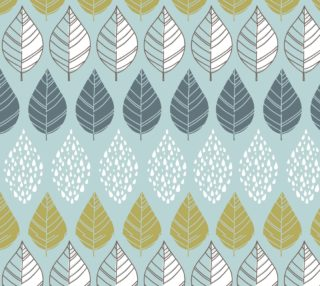 Aperçu de Abstract Leaves on Pastel Blue Background -