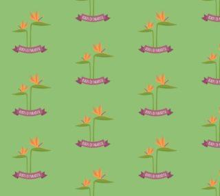 Aperçu de Bird of Paradise - Green Background