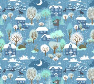 Lovely Vintage Winter Christmas Scene preview