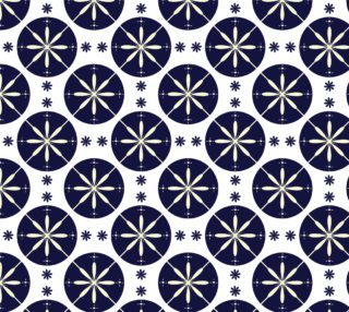 Aperçu de Navy Blue and White Abstract Pattern
