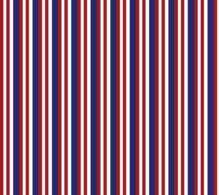 Patriotic Stripes - Red, White and Blue preview
