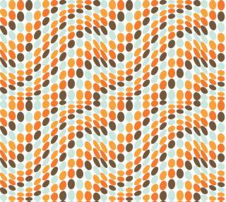 Aperçu de Retro Wavy Polka Dots - Op Art