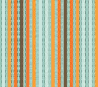 Aperçu de Retro - Orange, Brown and Aqua Stripes