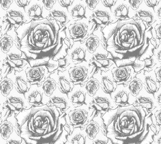 Aperçu de Pastel Soft Roses on White Background