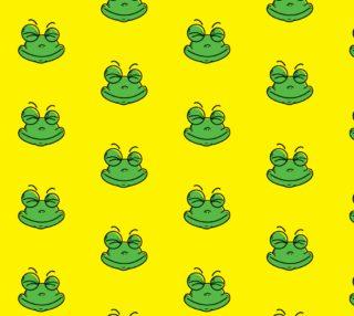 Aperçu de Adorable Frog on Yellow Background
