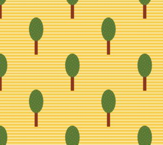 Aperçu de Trees on Yellow Stripes
