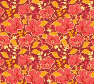 Aperçu de Gorgeous Vintage Floral in Pink, Orange, Coral