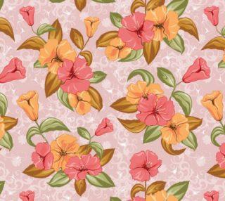 Aperçu de Fantasy Floral - Vintage - Pink, Orange