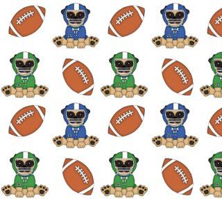 Aperçu de Football Pug Fabric
