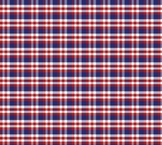 Aperçu de Red, White and Blue Patriotic Plaid