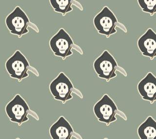Aperçu de Grim Reaper Halloween Fabric