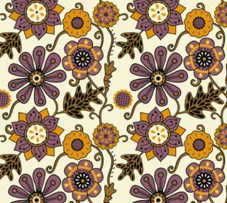 Aperçu de Purple and Gold Vintage Floral