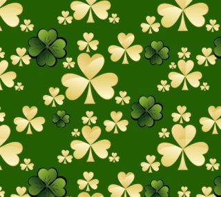 Aperçu de Gold and Green St. Patrick's Day Fabric