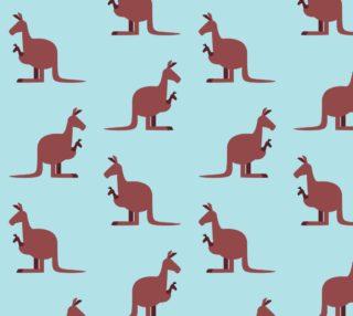 Aperçu de Cute Kangaroos on Blue Background