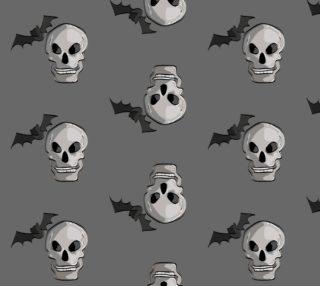 Aperçu de Creepy Halloween Skulls and Bats