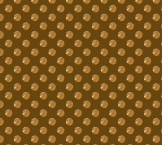 Polka dots golden seamless pattern preview
