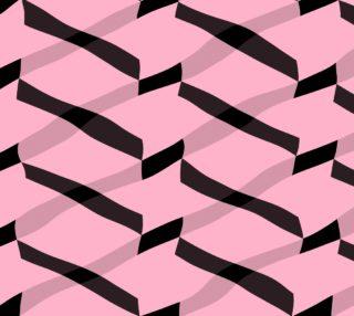 Aperçu de Pink and Black Chevron Abstract