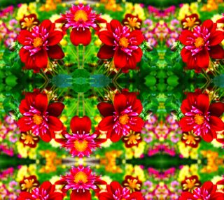 Vibrant Flowers - Fabric preview