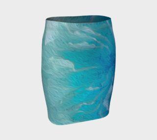 Aperçu de Blue I So Hope Fitted Skirt I