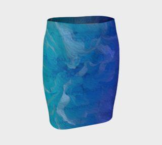 Aperçu de Blue I So Hope Fitted Skirt II
