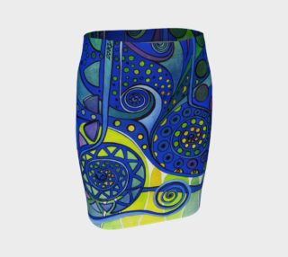 AURORA BOREALIS Fitted Skirt 2 preview