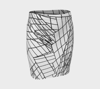 Angles Slim Skirt- White preview
