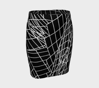 Angles Slim Skirt- Black preview