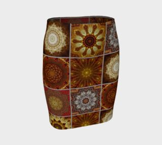 Golden Thai Crazy Quilt Fitted Skirt preview