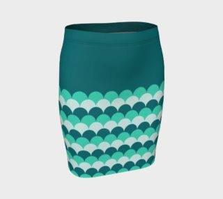 Mermaid Scales Fitted Skirt preview