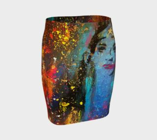 Chuck Redick Wonder Women Fitted Skirt preview