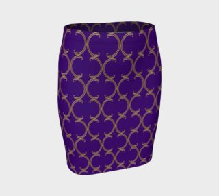 Moroccan Lattice in Purple and Faux Gold preview