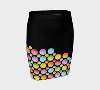 Aperçu de Rainbow Polka Dots Fitted Skirt placement