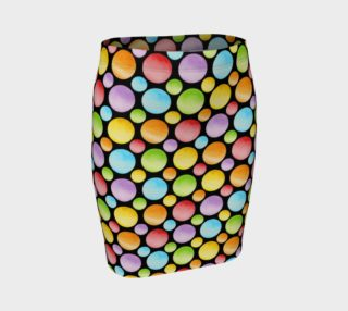Rainbow Polka Dots Fitted skirt allover small dot preview