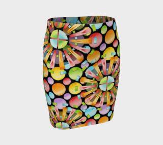 Aperçu de Rainbow Dots Sunburst Fitted Skirt