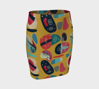 Too many cooks fitted skirt preview