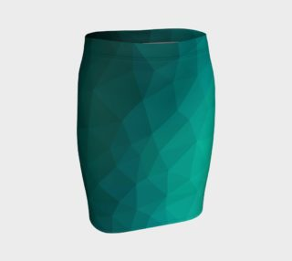 Green Low Poly Fitted Skirt preview