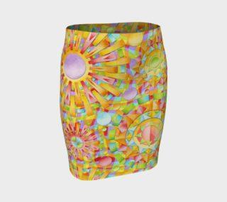 Aperçu de Candy Rainbow Mandala Fitted Skirt asymm.