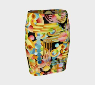 Aperçu de Art Deco Maximalist Fitted Skirt