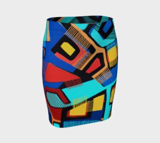 Blue Jazz Fitted Skirt preview