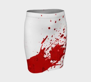 Blood Splatter First Cosplay Halloween Fitted Skirt preview