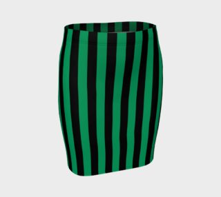 Black and Shamrock Green Stripes preview
