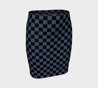 Aperçu de Black and Blue Jeans Blue Checkerboard Squares