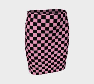 Black and Carnation Pink Checkerboard Squares preview