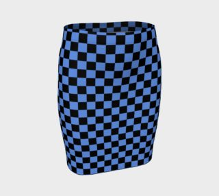 Aperçu de Black and Cornflower Blue Checkerboard Squares