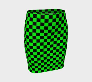 Black and Lime Green Checkerboard Squares preview