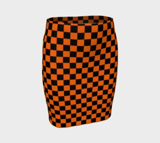 Aperçu de Black and Orange Checkerboard Squares