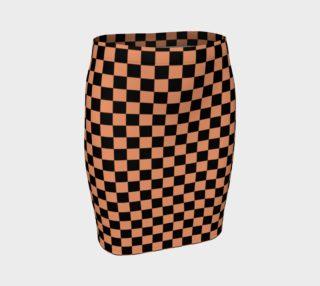 Aperçu de Black and Peach Checkerboard Squares