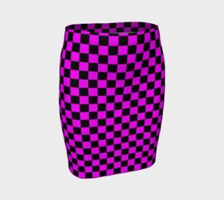 Aperçu de Black and Magenta Pink Checkerboard Squares