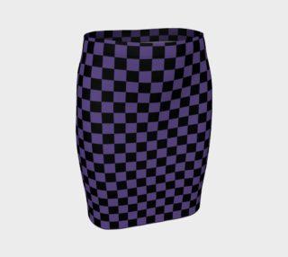 Aperçu de Black and Ultra Violet Purple Checkerboard Squares